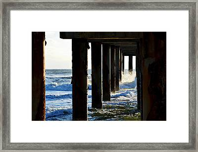 Framed Print featuring the photograph Sunwash At St. Johns Pier by Anthony Baatz