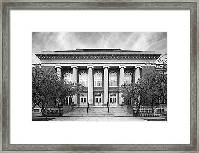 Suny Cortland Old Main Framed Print by University Icons