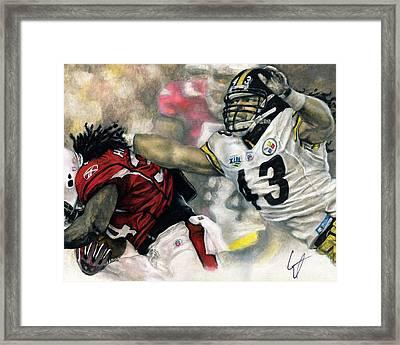 Super Bowl 43 Framed Print by William Western