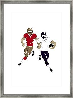 Super Bowl 47 49ers Vs Ravens Framed Print by Joe Hamilton