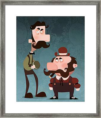 Super Bros. Framed Print