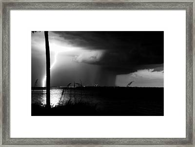 Super Cell Over Tampa Bay Framed Print by David Lee Thompson