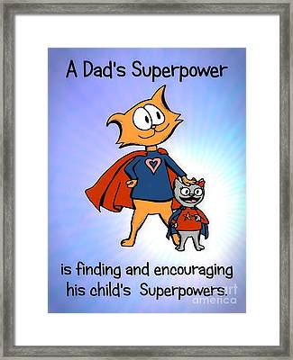 Super Dad And Daughter Framed Print by Pet Serrano