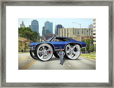 Super Duper Big Wheels Framed Print