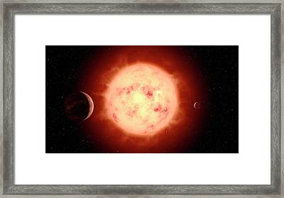 Super Earth Alien Planet Framed Print