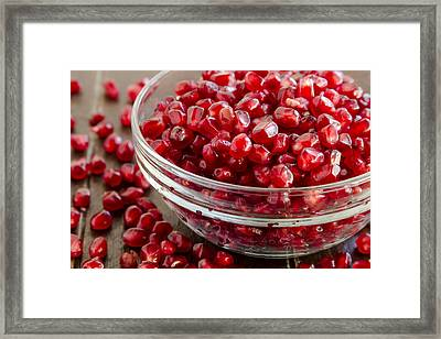 Super Food Pomegranate Seeds Framed Print by Teri Virbickis