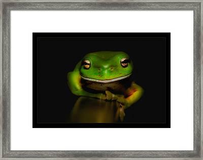 Super Frog 01 Framed Print
