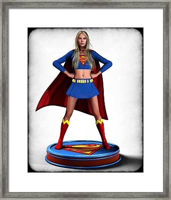 Super Girl V2 Framed Print by Frederico Borges