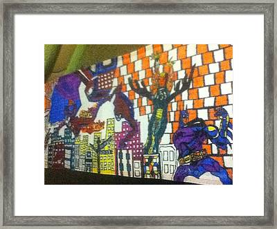 Super Heroes Framed Print by Mj  Museum