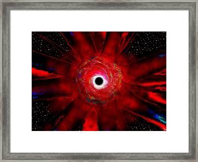 Super Massive Black Hole Framed Print