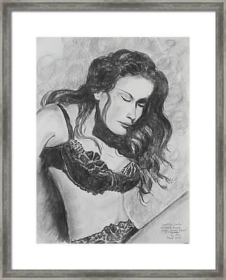 Super Model Framed Print by Robert P Hedden