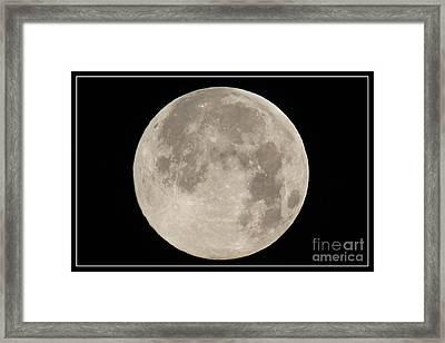 Super Moon 2013 Framed Print by Bob Hislop