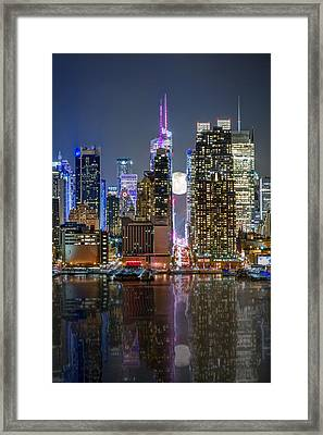 Super Moon At 42nd Street  Framed Print by Eduard Moldoveanu