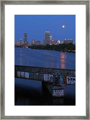 Super Moon Boston Framed Print