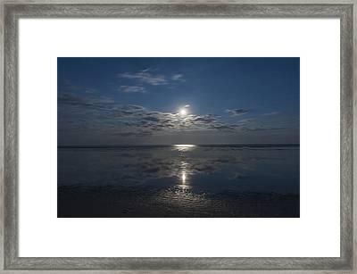 Super Moon Burst Sea Isle City Nj  Framed Print by Terry DeLuco