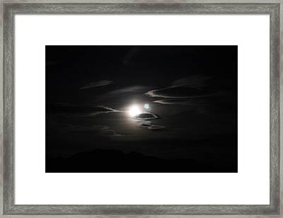 Super Moon In Kodachrome Framed Print by Carolina Liechtenstein