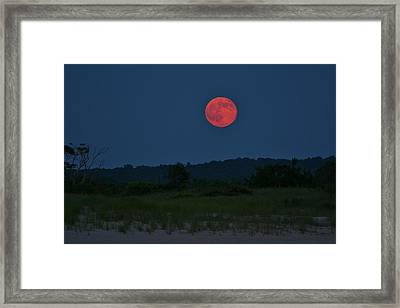 Super Moon July 2014 Framed Print
