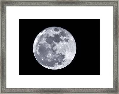 Super Moon Over Arizona  Framed Print