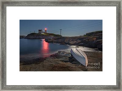 Super Moon Over Nubble Framed Print