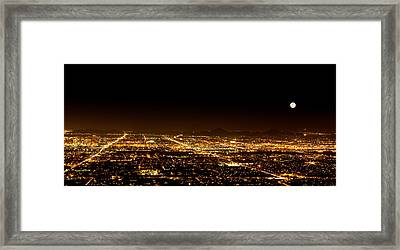 Super Moon Over Phoenix Arizona  Framed Print by Susan Schmitz