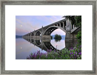 Super Moon Over The Susquehanna Framed Print