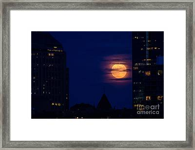 Super Moon Rises Framed Print