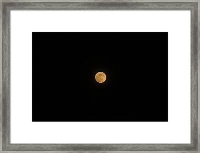 Super Moon Rising Framed Print