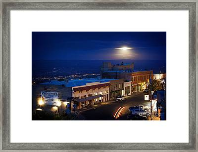 Super Moon Ufo Framed Print