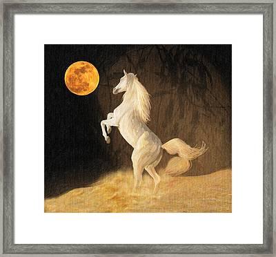Super Moonstruck Framed Print by Angela A Stanton