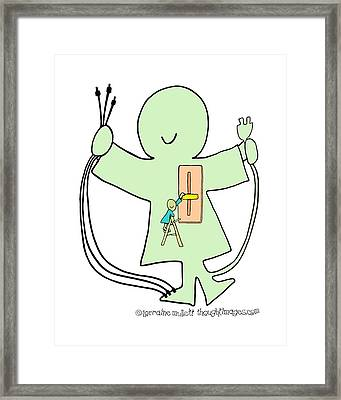 Super-self Dimmer Switch Framed Print