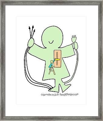 Super-self Dimmer Switch Framed Print by Lorraine Mullett
