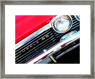 Super Sport 2 - Chevy Impala Classic Car Framed Print by Sharon Cummings