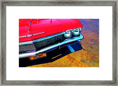 Super Sport 3 - Chevy Impala Classic Car Framed Print by Sharon Cummings