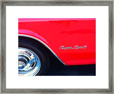 Super Sport - Chevy Impala Classic Car Framed Print by Sharon Cummings