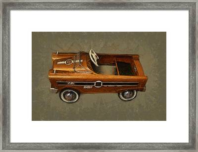 Super Sport Pedal Car Framed Print by Michelle Calkins