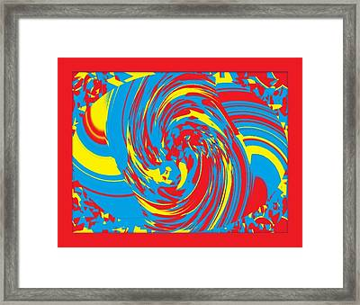 Framed Print featuring the painting Super Swirl by Catherine Lott