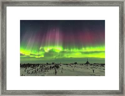 Superb Aurora Of March 14, 2016 3 Framed Print
