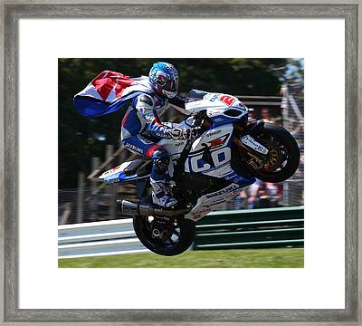 Superbike Superhero Framed Print by Lawrence Christopher
