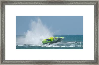 Superboats - Miss Geico Framed Print