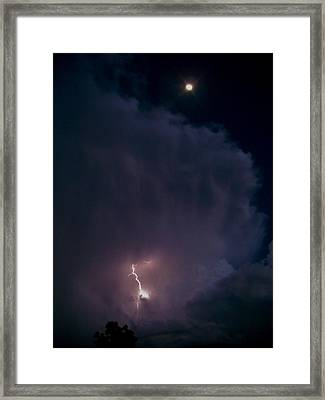 Supercell Moon Framed Print by Ed Sweeney