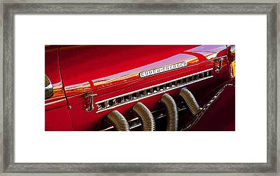 Supercharged Candy Apple Framed Print