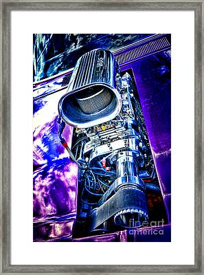 Supercharged Charger Framed Print by Olivier Le Queinec