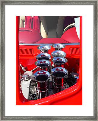 Framed Print featuring the photograph Supercharged Engine by Jeff Lowe