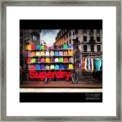 Superdry. Framed Print by Carly Athan