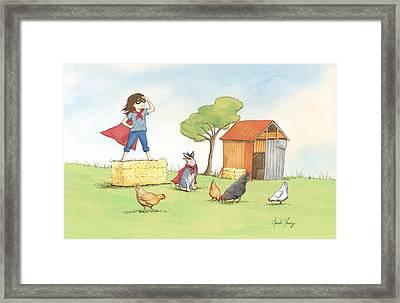 Supergirl Framed Print by Amanda Francey