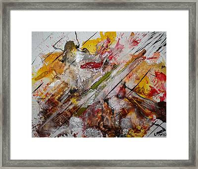 Superhero Meltdown Framed Print by Lucy Matta