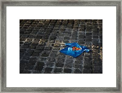 Superhero Framed Print by Tim Gainey
