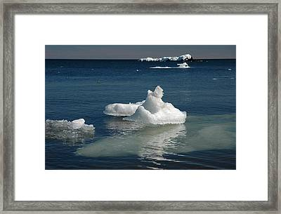 Framed Print featuring the photograph Superior Blues And Ice by Sandra Updyke