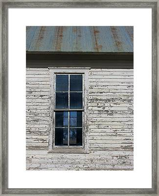 Superior Schoolhouse Window Framed Print