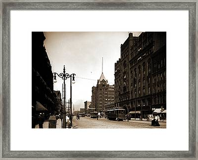 Superior Street, Cleveland, Ohio, Streets Framed Print by Litz Collection
